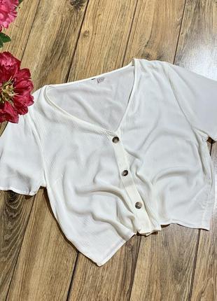 Укороченная шифоновая блуза h&m