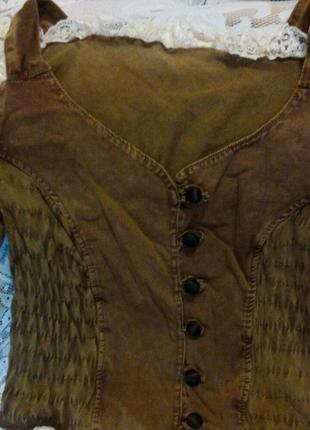 Блуза летняя из тонкого джинса