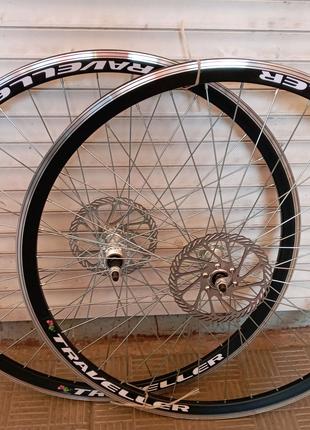 Вело колёса 20,24,26,28 дюймов под дисковый тормоз двойной обод к