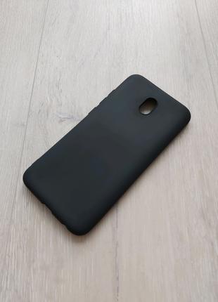 Xiaomi Redmi 8a чехол силиконовый черный