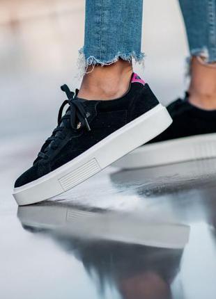 Кроссовки adidas women's sleek super core black/off white / ор...