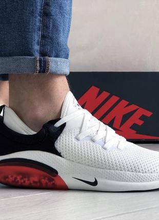 Стильные мужские кроссовки nike joyride run flyknit белые
