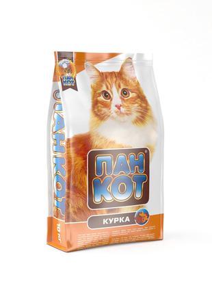 Пан Кот Курица Сухой Корм для котов 10 кг