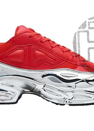 Женские кроссовки adidas raf simons ozweego red/silver metalli...