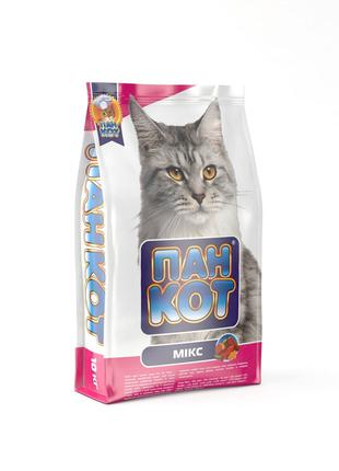 Пан Кот Микс Сухой Корм для котов 10 кг