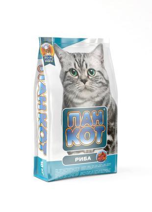 Пан Кот Рыба Сухой Корм для котов 10 кг