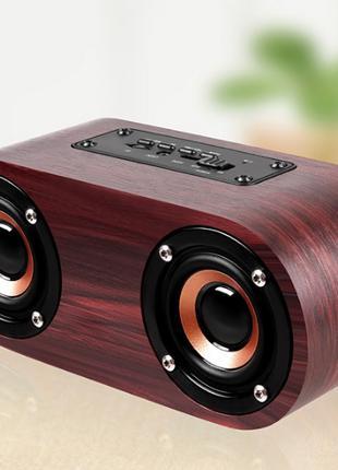 LETTE Wood Bluetooth портативная колонка. В подарок SD 32 гб