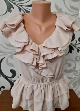 🔥🔥🔥стильная блузка с рюшами и оборками