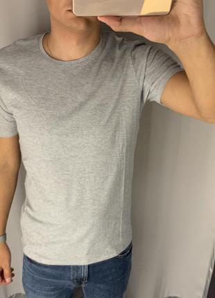 Базовая серая хлопковая футболка smog есть размеры