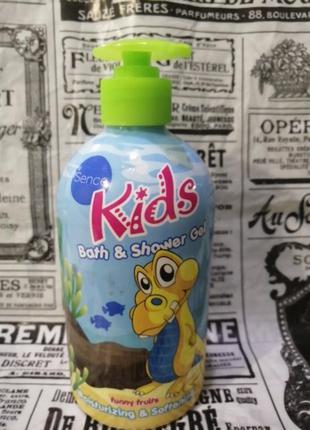 Детский гель для душа, пена для ванны kids funny fruits  500мл