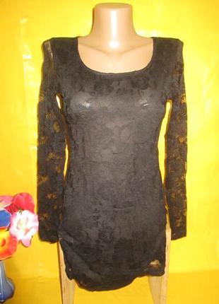 Ажурное женское платье-туника с красивой спиной muse independe...