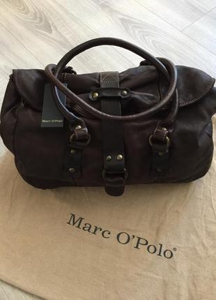 Кожаная сумка marc o'polo, оригинал, новая