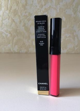 Rouge coco lip blush увлажняющий тинт для губ и щек 416