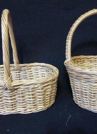 Корзины плетеные из вербовой лозы кошики дитячі