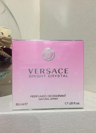Versace bright crystal парфюмированный дезодорант