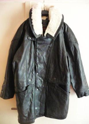 Утеплённая кожаная мужская куртка-косуха pelle tannin'i. испан...
