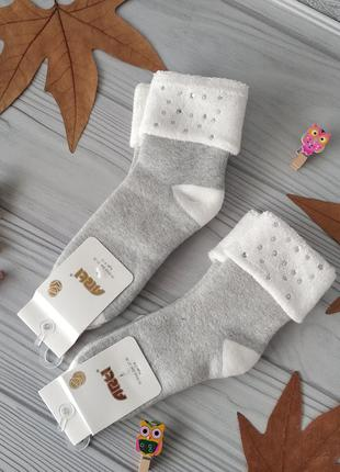 Нарядные махровые носки на девочку 9-10 лет. турция