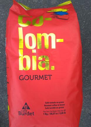 Кофе в зернах Cafe Burdet Colombia Gourmet 1кг в зернах 100% араб