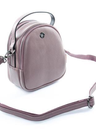 Женская кожаная сумка, клатч сиреневый! распродажа!!! много ра...