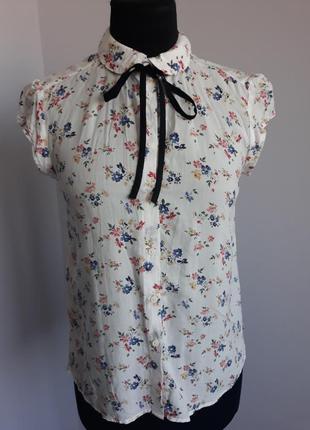 Блуза женская, цветоный принт