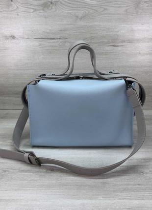Женская стильная сумка 2в1 голубого цвета 2020