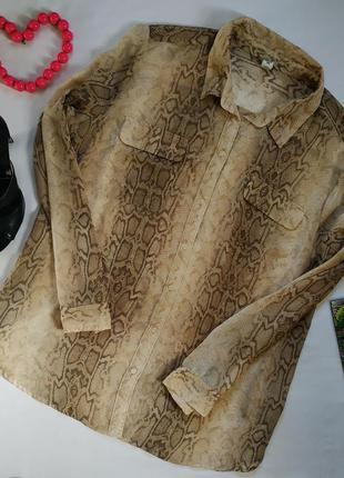 Блуза с принтом. на бирке- xxl р-р