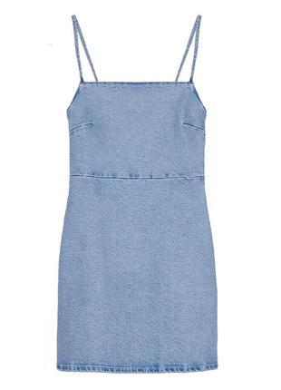 Джинсовое платье с ремешками zara