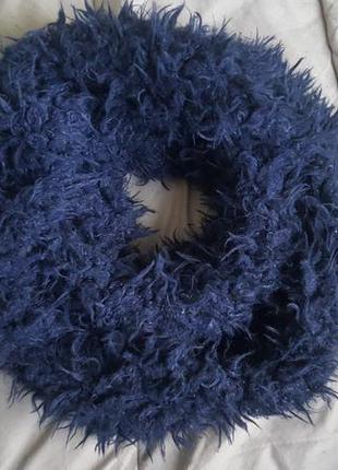 Пушистый плюшевый с ворсом мягкий хомут снуд шарф