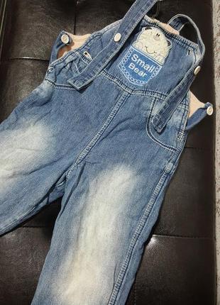 Комбинезон джинсовый на флисе на 18-24 мес gloria jeans