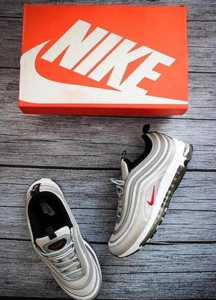 Распродажа! акция! кроссовки  air max 97 silver.