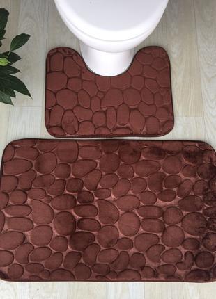 Набор ковриков для ванны / мягкий коврик для ванной комнаты