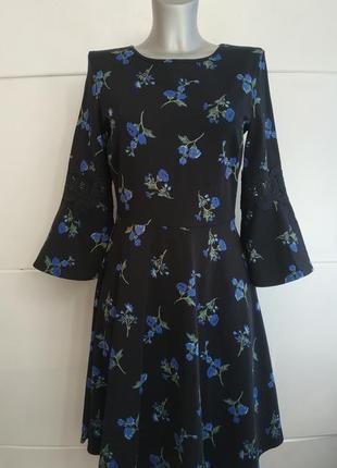 Красивое платье dorothy perkins оригинального кроя с принтом к...