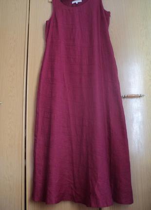 Шикарное платье размер 54 лен