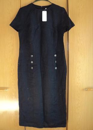 Платье лен! размер 48-50