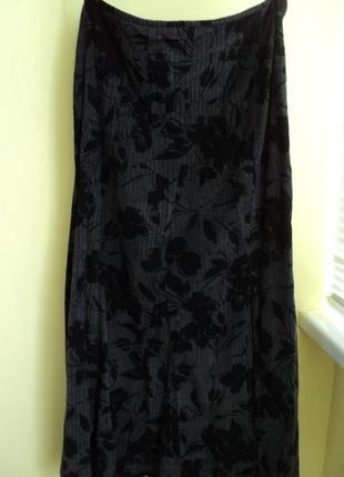 Теплая юбка макси размер 50-52