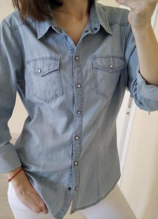 Рубашка джинсовая only р.40
