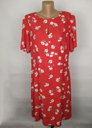 Платье натуральное модное в цветы большой размер primark uk 20...