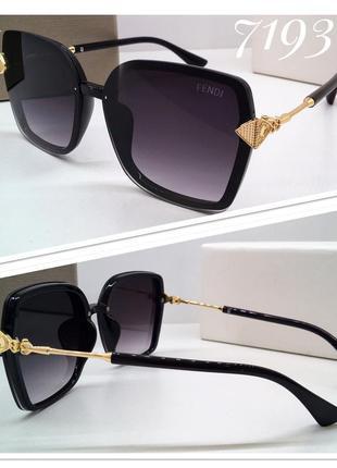 Женские солнцезащитные очки черные классика квадраты