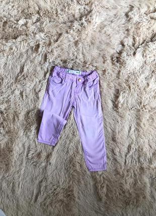 Джинсики-скинни  лавандового цвета на девочку