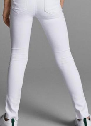 Белые джинсы 🔥🔥🔥 коттон плотный 7-8 лет