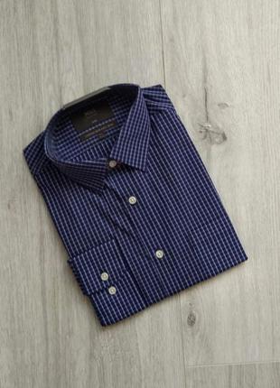 Мужская рубашка marks & spencer с длинным рукавом приталенная ...