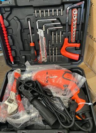 Дрель ударная Makita HP 1640 +набор инструментов+кейс
