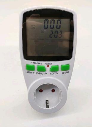 Ваттметр, счётчик электроэнергии для розетки