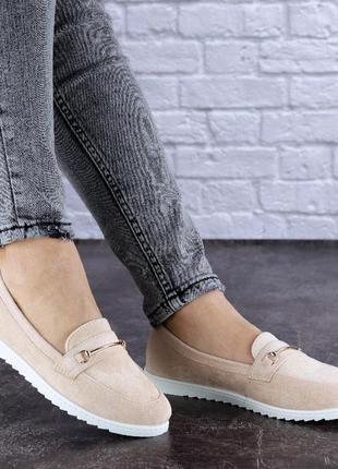 Женские туфли балетки🔥весна осень лето 🔥цвет белый пудра
