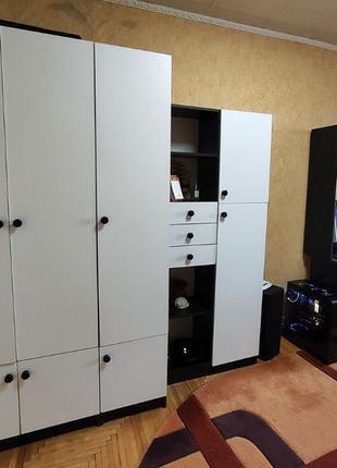 Мебель для детской комнаты, стенка, шкаф, стол, пенал, полка д...