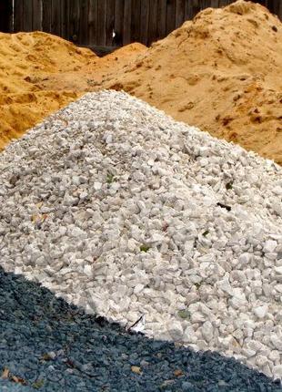 Щебень,песок