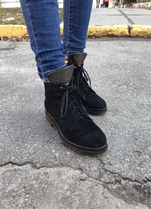 Ботинки замшевые женские весна осень