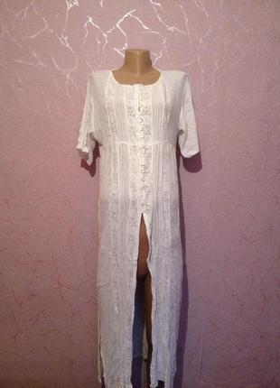 Кардиган платье длинная рубашка пляжная накидка