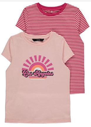 Набор футболочек на девочек George от 7 до 9 лет