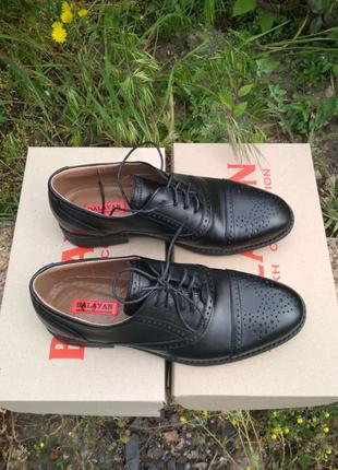 Мужские туфли кожа, Оксфорды, Броги, Лоферы